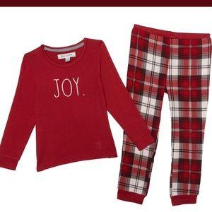"Rae Dunn ""Joy"" infants Pajamas  18M Long Sleeve"